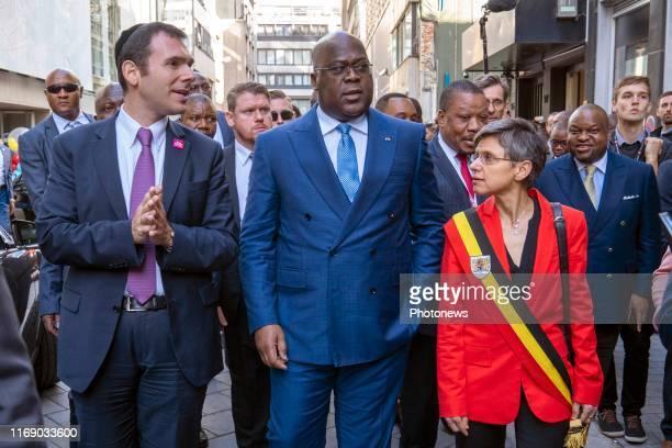 - Bezoek van de Congolese president Félix Tshisekedi aan de Antwerpse diamantsector - Visite du président congolais Felix Tshisekedi au secteur...