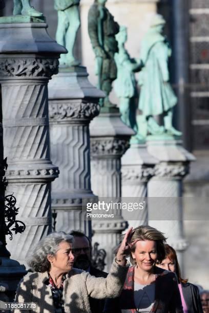 Bezoek van de Koningin Mathilde aan het Koninklijk Conservatorium Brussel / Grote Zavel Visite de la Reine Mathilde au Conservatoire Royal de...