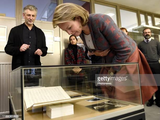 Bezoek van de Koningin Mathilde aan het Koninklijk Conservatorium Brussel Visite de la Reine Mathilde au Conservatoire Royal de Bruxelles * Salle du...