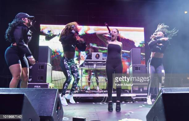 Bhad Bhabie performs onstage during Day 2 of Billboard Hot 100 Festival 2018 at Northwell Health at Jones Beach Theater on August 19 2018 in Wantagh...