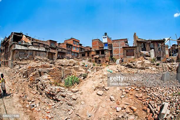 Bhaktapur earthquake damage, Kathmandu Valley, Nepal