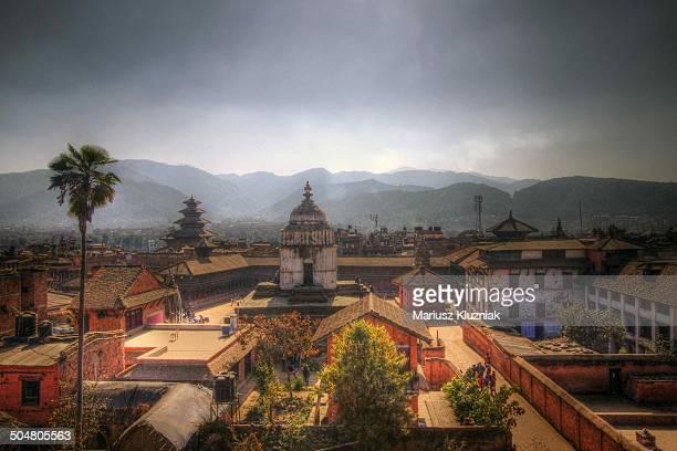 bhaktapur nepal durbar square - kathmandu stock pictures, royalty-free photos & images