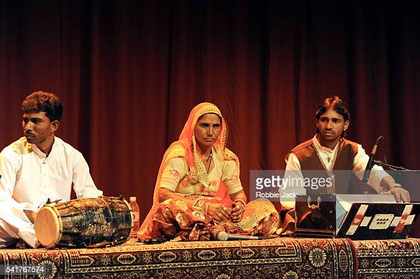 Bhanwari Devi sings accompanied by Indra Chand on dholak and Krishna Kumar on the harmonium in the Bhopa Bhopi/phad tradition in The Legendary Music...