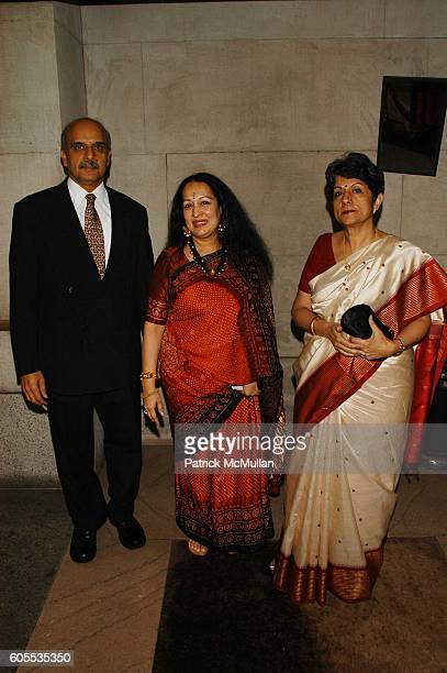 Bharat Bhise Swati Bhise and Neelam Deo attend Sanskriti Center 2nd Annual Benefit Gala at NY Raquet and Tennis Club NYC on May 19 2006 in New York...