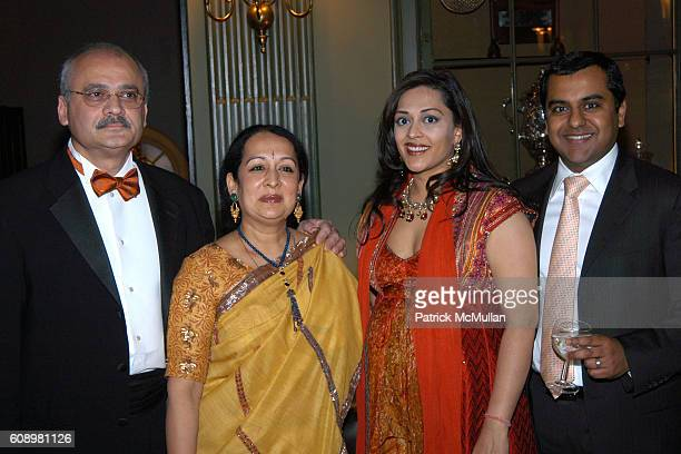 Bharat Bhise Swati Bhise Ritu SahaiMittal and Manish Mittal attend 3rd ANNUAL SANSKRITI BENEFIT at New York Racquet Tennis Club on May 24 2007 in New...