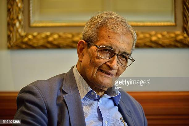 Bharat Ratna and Nobel Memorial Prize in Economic Sciences awarded Economist Amartya Sen poses for a profile shoot on July 7 2015 in New Delhi India