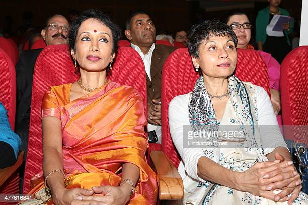 Bharatanatyam dancer Alarmel Valli with Merry Barua Director of Action for Autism during Limca Book of Records' People of the Year 2014 award...