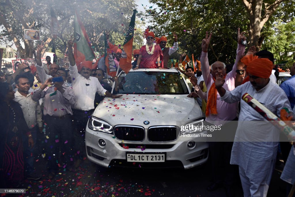 IND: BJP Candidate Meenakshi Lekhi Holds A Road Show; Celebrates Her Victory In Lok Sabha Elections