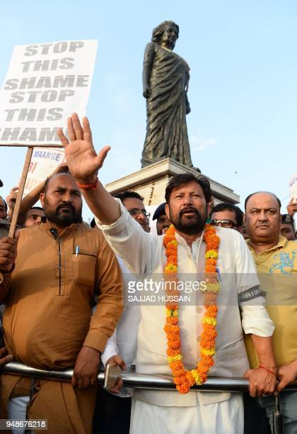 Bharatiya Janata Party local leader Chaudhary Lal Singh who has resigned from the state cabinet over the Kathua rape and murder case of an...