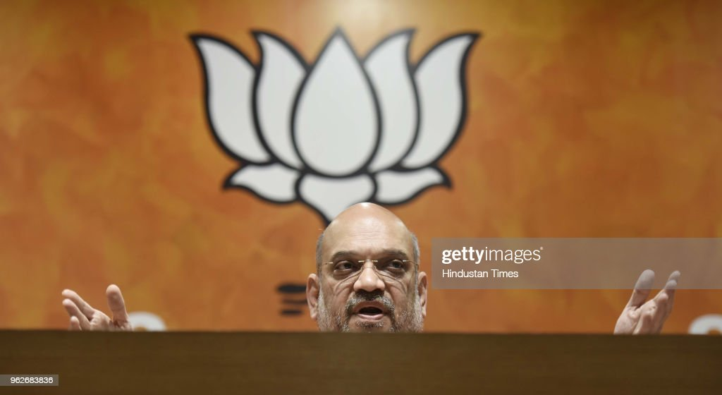 BJP President Amit Shah Addresses A Press Conference On Four Years Of NDA's Government
