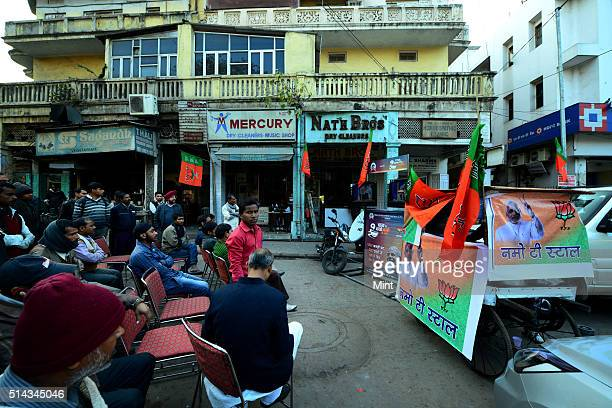 Bharatiya Janata Party's Chai pe charcha a programme organized by Narender Modi on tea as a part of Lok Sabha election campaign in Delhi on February...