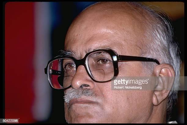 Bharatiya Janata Party's L.K. Advani at Hindu nationalist BJP rally New Delhi, India.