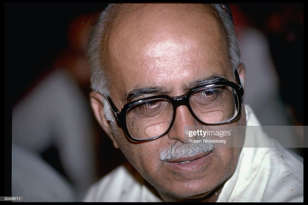 Bharatiya Janata Party's L.K. Advani at : News Photo