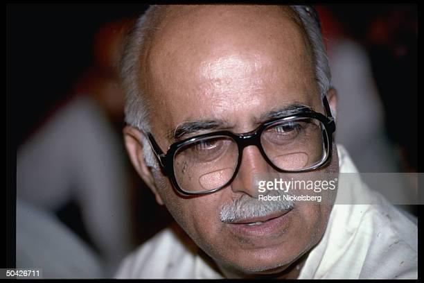 Bharatiya Janata Party's L.K. Advani at Hindu nationalist BJP rally.