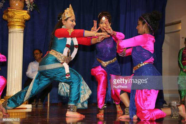 Bharatnatyam dancers perform an expressive fusion dance mixing classical and modern dance styles while depicting the stories of different Hindu Gods...