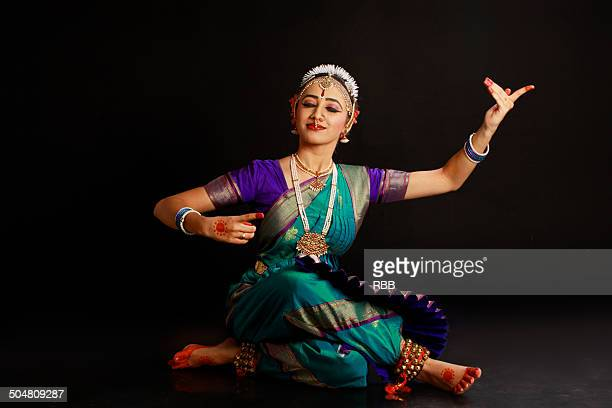 bharatanatyam costume colors stock photos and pictures