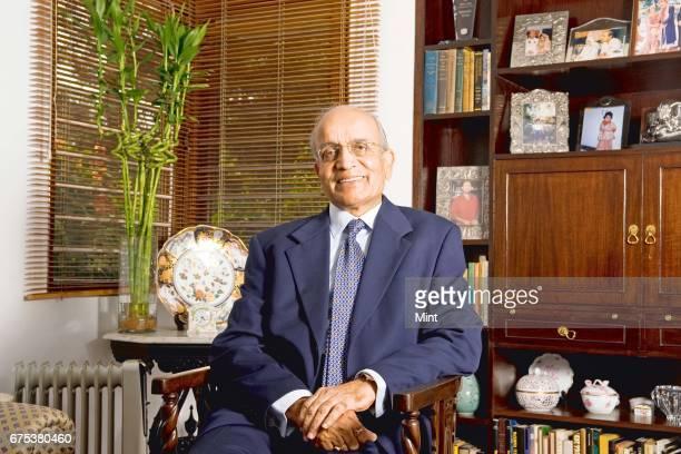 Bhargava Chairman of Maruti Suzuki India limited photographed at his residence in Noida