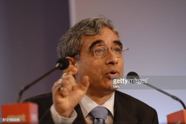 P Bhatt Chairman of SBI poses for the photograph during the MINT Clarity through Debate Conclave in Mumbai