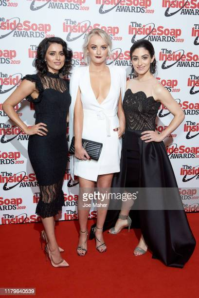 Bhavna Limbachia Katie McGlynn and Cassie Bradley attend the Inside Soap Awards at Sway on October 07 2019 in London England