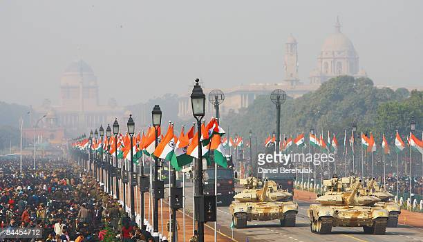 Bheeshma Tanks are paraded during the Republic Day Parade on January 26, 2009 in New Delhi, India. India today celebrates its 60th Republic Day with...