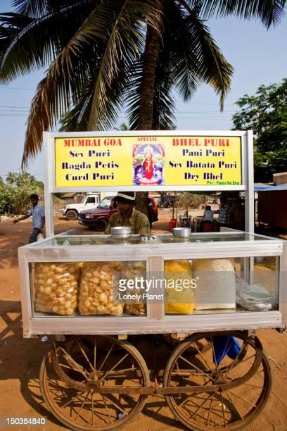 Bhel puri vendor's cart.