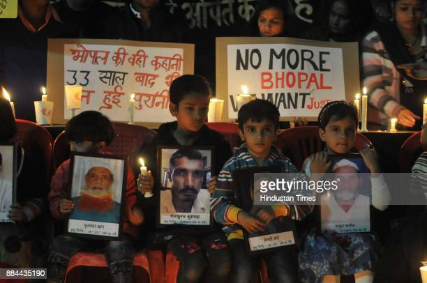 Bhopal gas tragedy survivors and others paying tribute to the victims of the world`s biggest Industrial disaster on the 33rd anniversary of Bhopal...