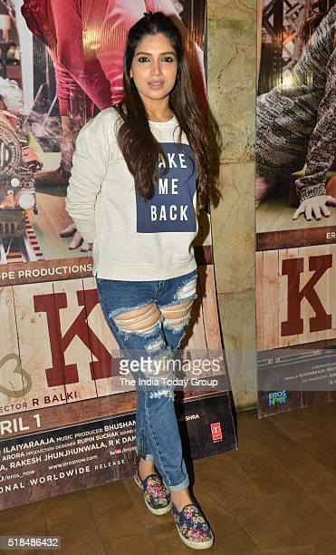 Bhumi Pednekar during the special screening of film Ka and Ki at Light Box in Mumbai