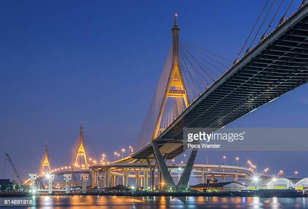 Bhumibol bridge in Bangkok Thailand