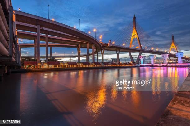 Bhumibol Bridge in Bangkok,Thailand