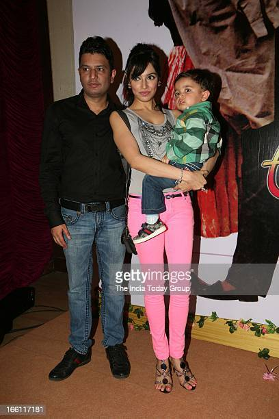 Bhushan Kumar with his wife Divya at the music launch of the film Aashiqui 2 in Mumbai on 8th April 2013