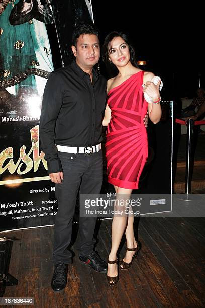 Bhushan Kumar with is wife Divya at the success party of Aashiqui 2 on 30th April 2013 in Mumbai