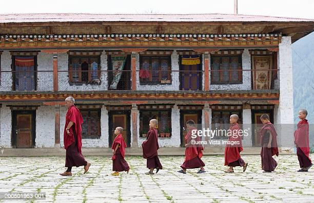 Bhutan, Bumthang, Karchu Dratsang Monastery, Buddhist Lama and monks