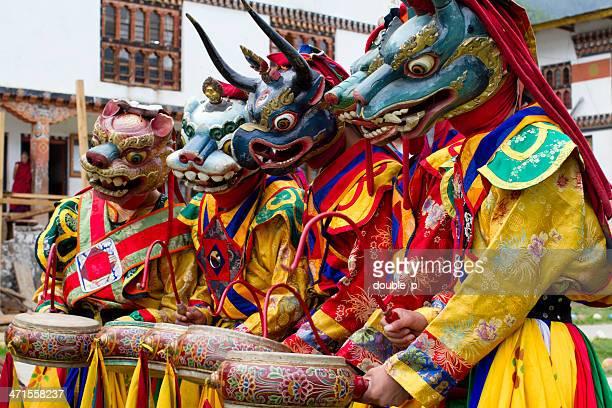 Bhutan Tanz und Musik Gruppe