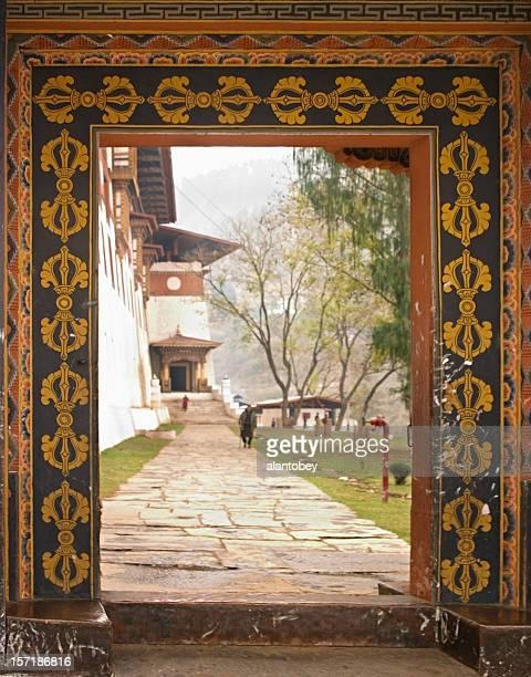 Bhutan - Doorway and Flank of Paro Monastery