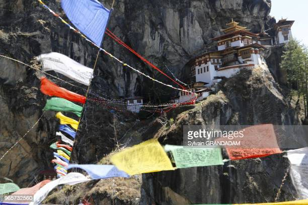 Bhutan Paro county Taktshang monastery hanging spectacularly on a cliff a most famous pilgrimage place since it was founded during the VIII th...