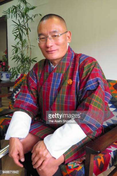 Bhutan Prime Minister Tshering Tobgay speaks during the Asahi Shimbun interview on April 18 2018 in Thimpu Bhutan