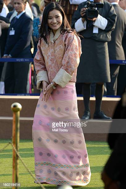 Bhutan Queen Jetsun Pema during At Home reception hosted by the President on the occasion of 64th Republic Day at Rashtrapati Bhavan in New Delhi on...