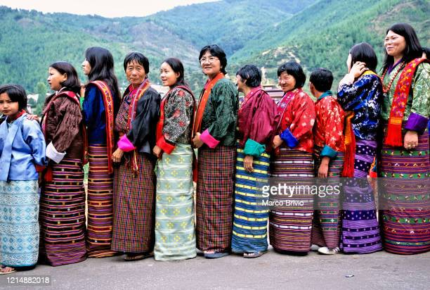 bhutan. thimphu festival - marco brivio stock pictures, royalty-free photos & images