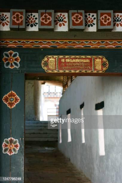 bhutan, trongsa dzong - trongsa district stockfoto's en -beelden