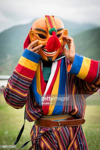 bhutanese jester - fool stock pictures, royalty-free photos & images