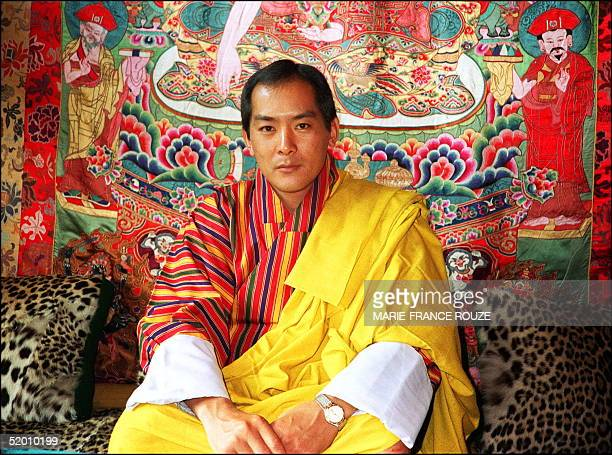 Bhutan's King Jigme Singhye Wangchuk shown in this file picture dated 14 September 1990 in his Thimpu palace