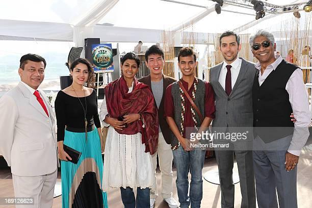 Bhuvan Lall Amna Al Nowais Nandita Das Tay Yu Xian Sagar Shiriskar Mohammed AlOtaiba and Ashok Amritraj attend the 'Chance of a Lifetime' Party...