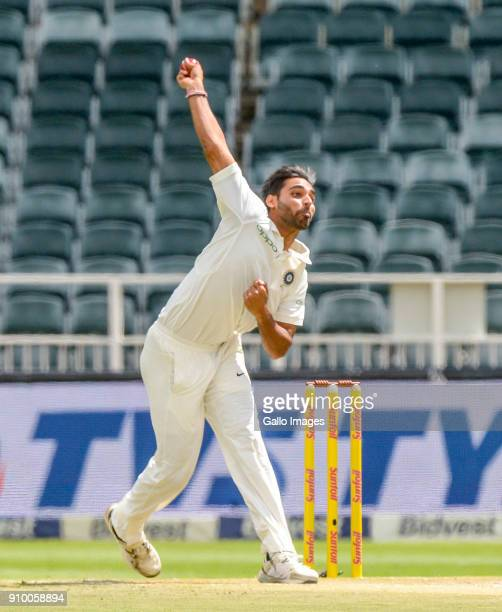 Bhuvneshwar Kumar if India during day 2 of the 3rd Sunfoil Test match between South Africa and India at Bidvest Wanderers Stadium on January 25, 2018...
