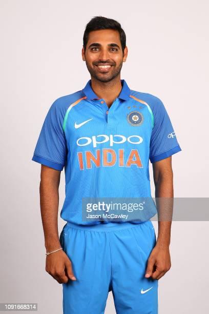 Bhuvneshwar Kumar poses during the India Men's ODI Headshots Session on January 09, 2019 in Sydney, Australia.