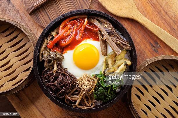 bi bim bap - korean food stock pictures, royalty-free photos & images