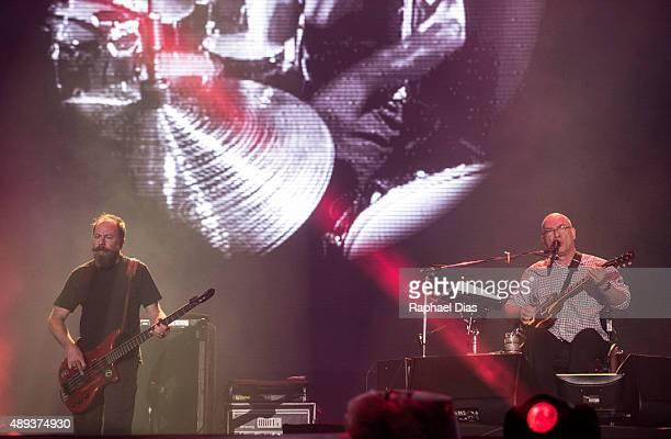 Bi Ribeiro and Hebert Vianna from Os Paralamas do Sucesso performs at 2015 Rock in Rio on September 20, 2015 in Rio de Janeiro, Brazil.
