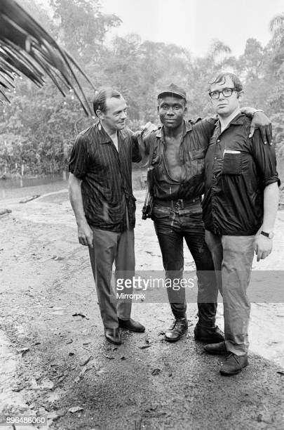 A Biafran soldier seen here with Daily Herald staff photographer Ron Burton during the Biafra conflict 11th June 1968