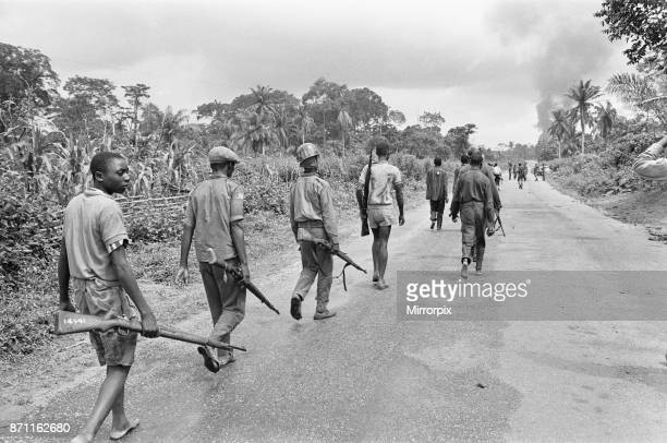 Biafran soldiers seen here advancing towards the Nigerian army 11th June 1968