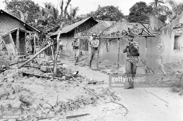 Biafran soldiers seen here advancing towards the Nigerian army during the Biafran conflict 11th June 1969