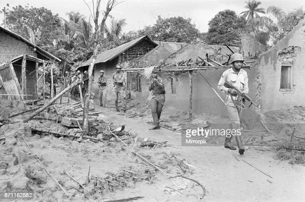 Biafran soldiers seen here entering a recently captured village from the Nigerian army 11th June 1968